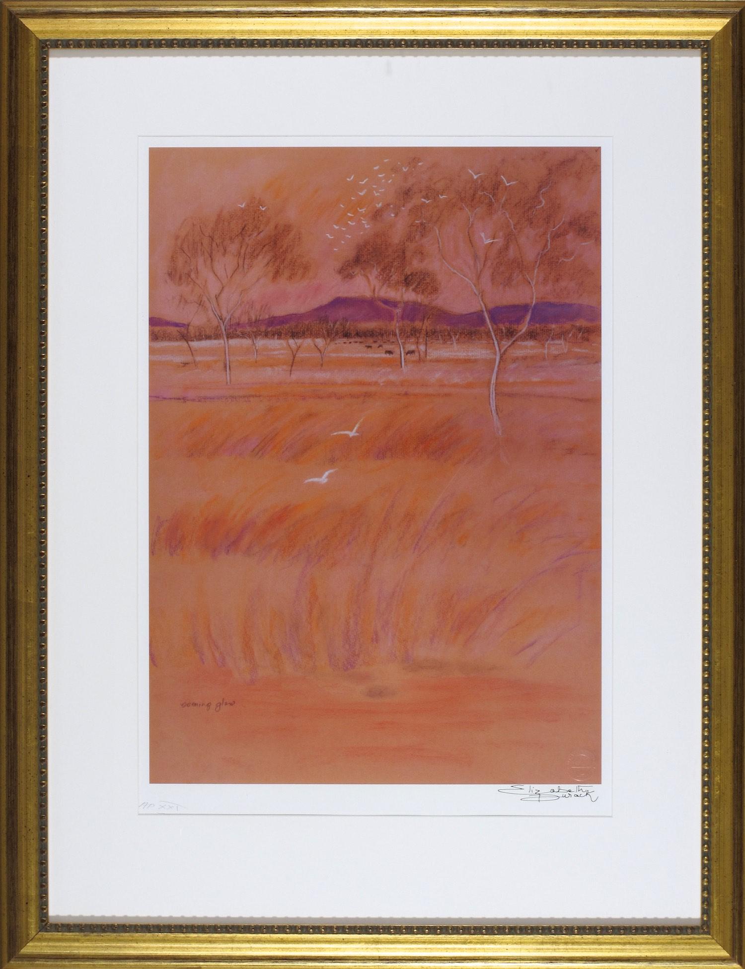 #12916 ED13. Elizabeth Durack. Evening Glow. Signed AP 21. 86cm x 66cm.