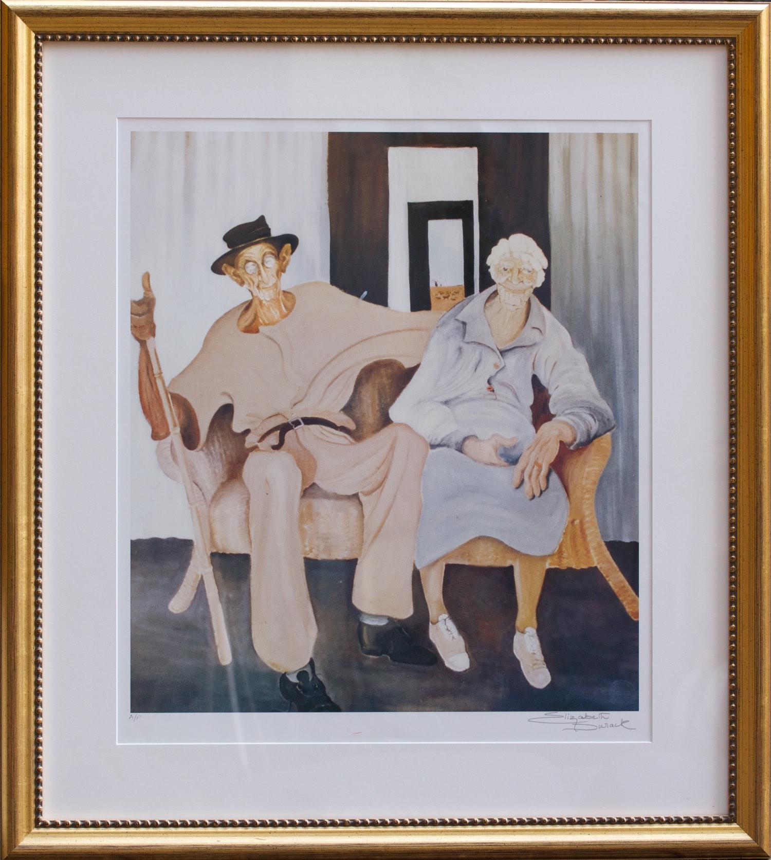 Elizabeth Durack Golden Wedding P/P  59cm x 48cm (89cm x 80cm Framed) Hand signed by artist - Limited Edition, Printers Proof