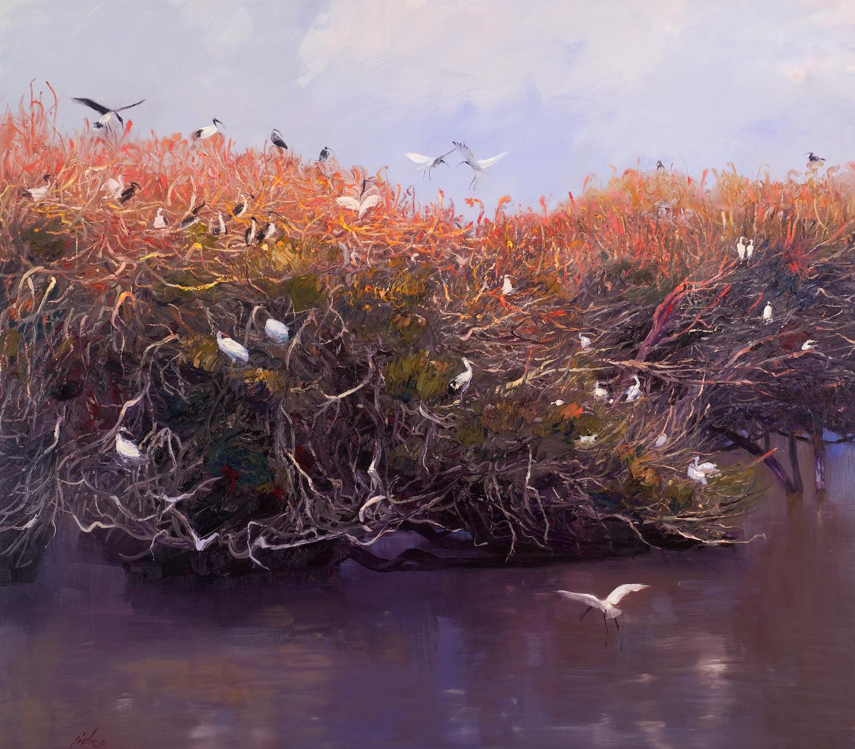 Ji Chen 'Bird Nest' 152cm x 173cm #14168