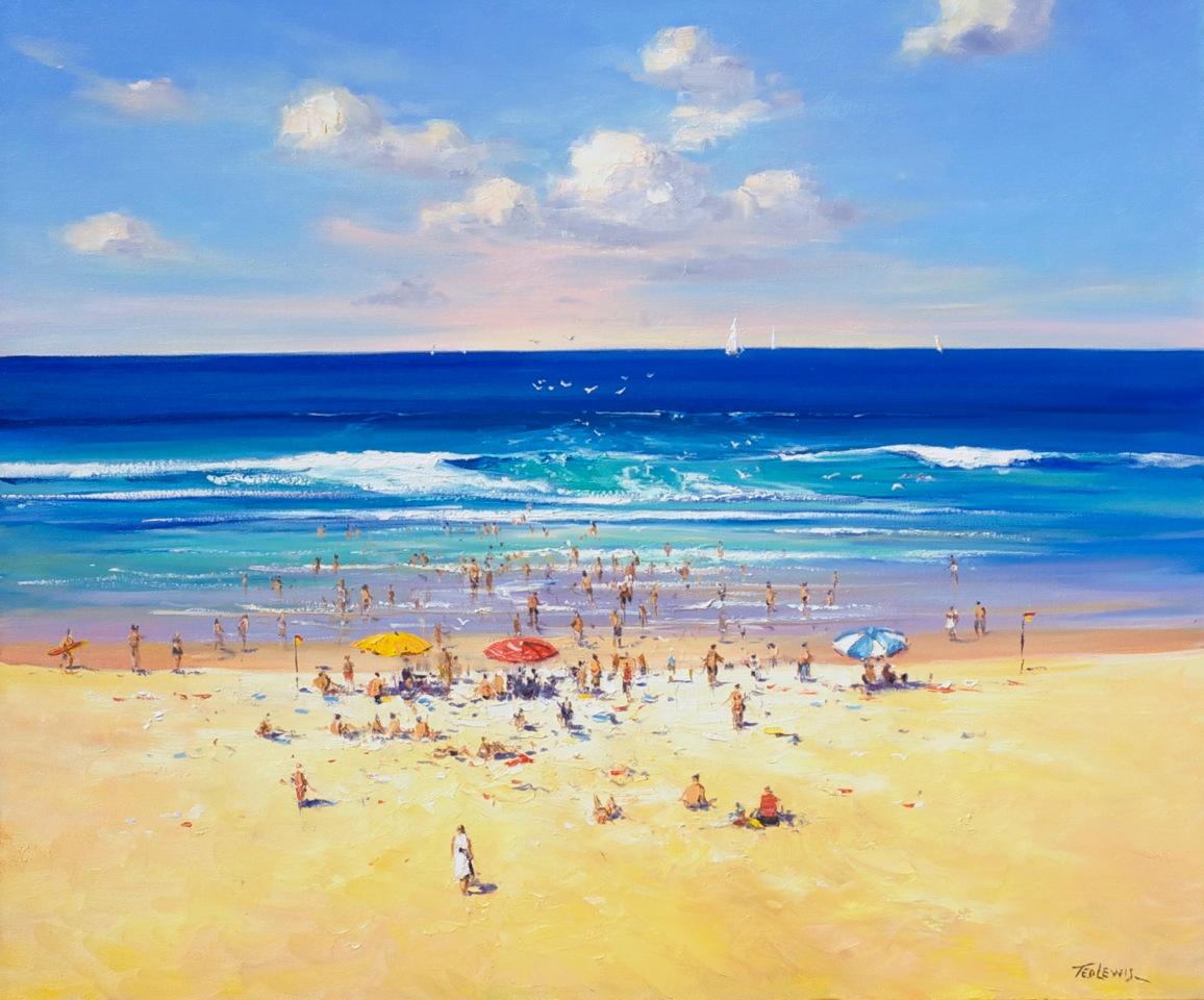 Ted Lewis 'On the Beach' 76cm x 93cm #14378
