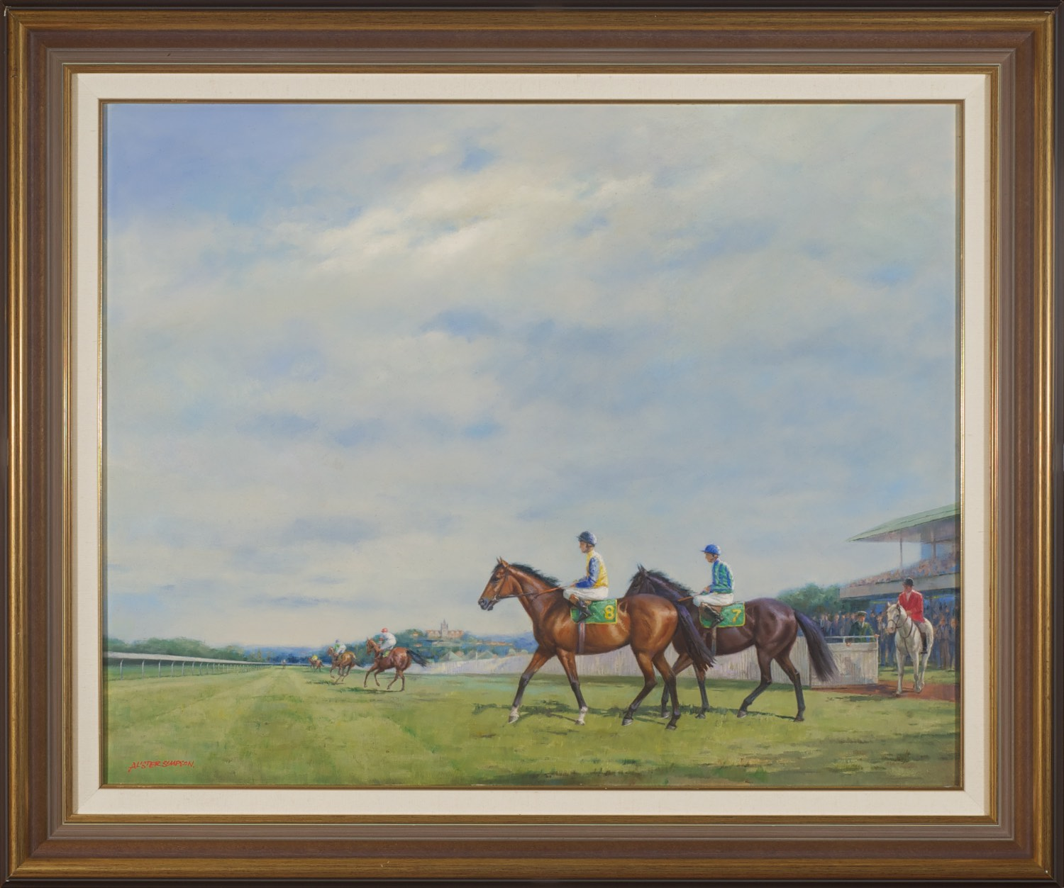 #10728 Alister Simpson 'In the Lead' 76cm x 93cm