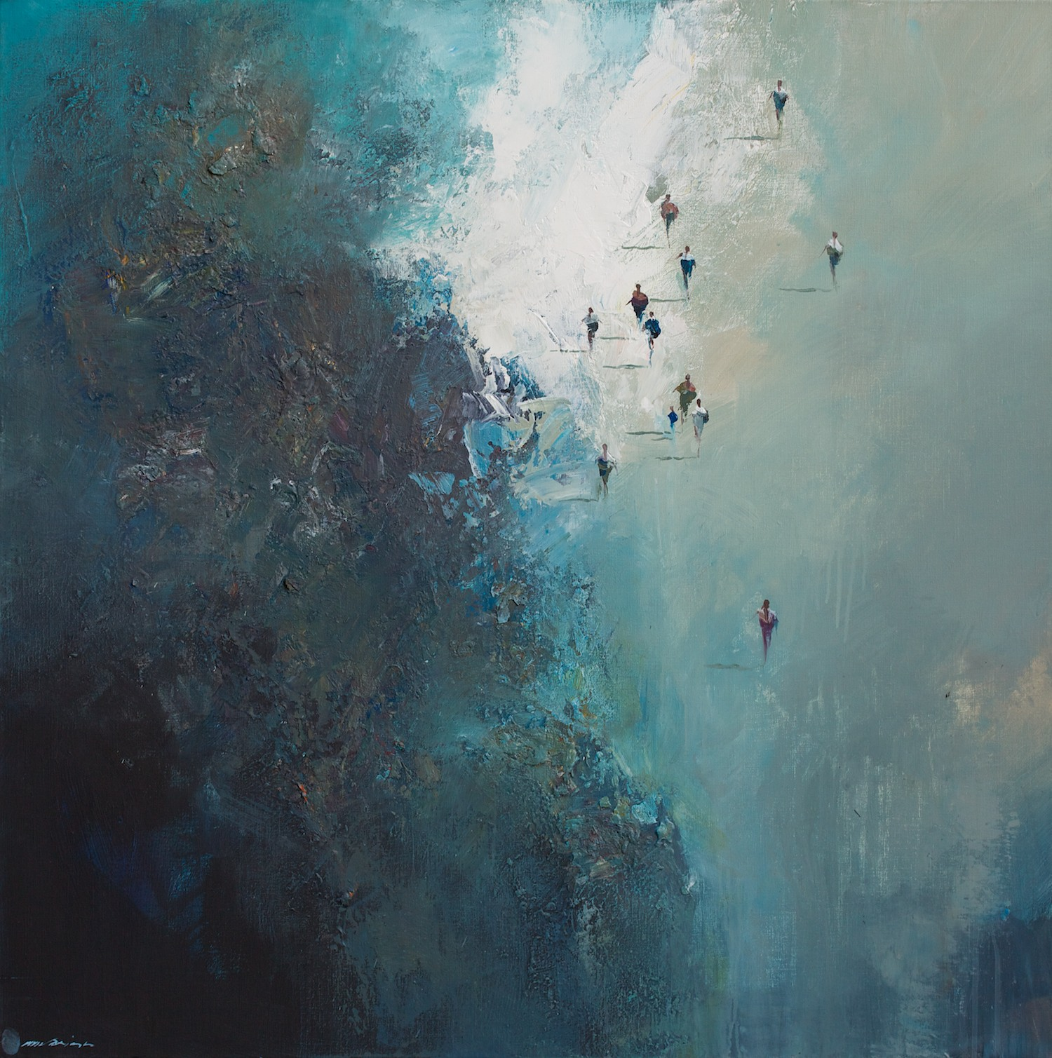 Mel Brigg 'The Arrivals' 100cm x 100cm