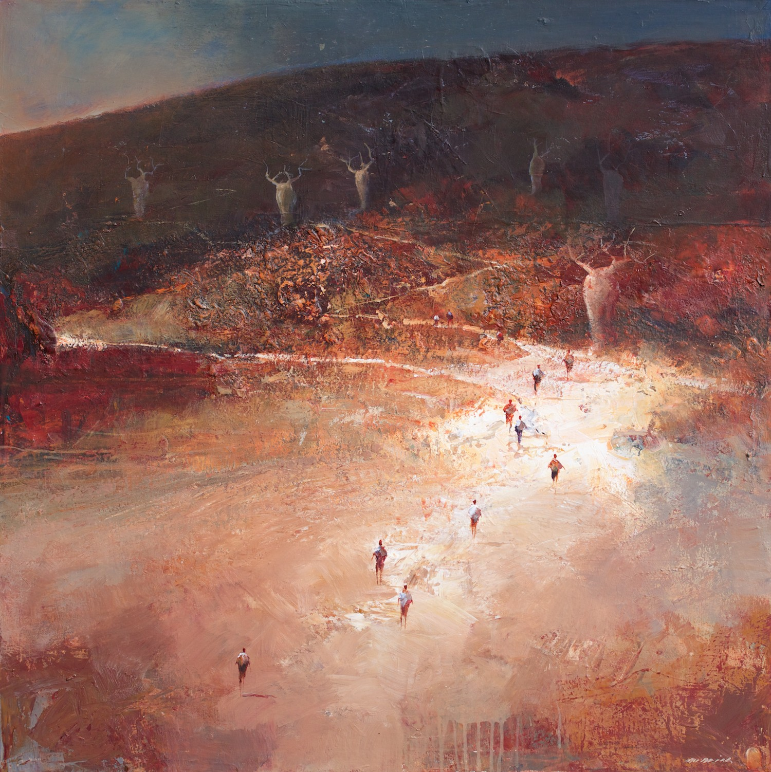Mel Brigg 'Passage through the Boabs' 115cm x 115cm
