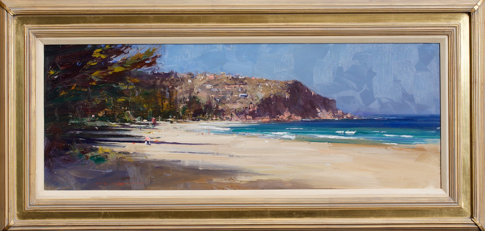 #14573 Ken Knight 'Whale Beach' Oil on Board 60cm x 123cm