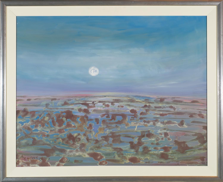 Robert Fisher 'Wetlands - Towards Birdsville' 91cm x 112cm #10452
