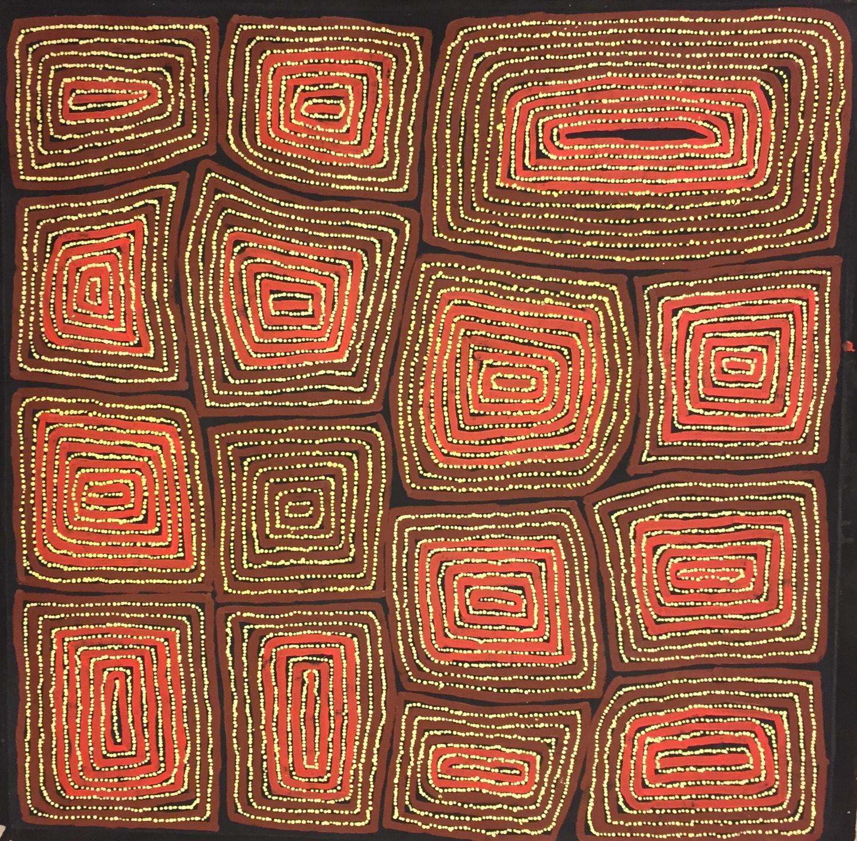 Thomas Tjapaltjarri 'Tingari' Acrylic on Belgian Linen 112cm x 112cm #10162