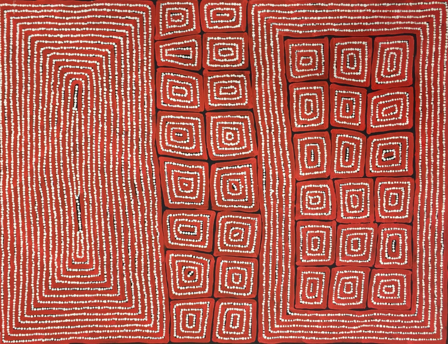 Thomas Tjapaltjarri 'Tingari' Acrylic on Canvas 102cm x 80cm #13957