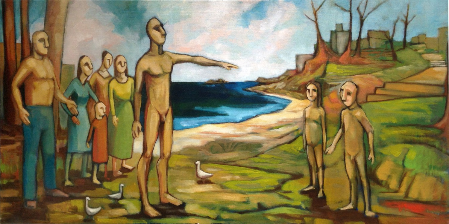 Sandro Nocentini 'The blessing of the father' 50cm x 102cm #15218