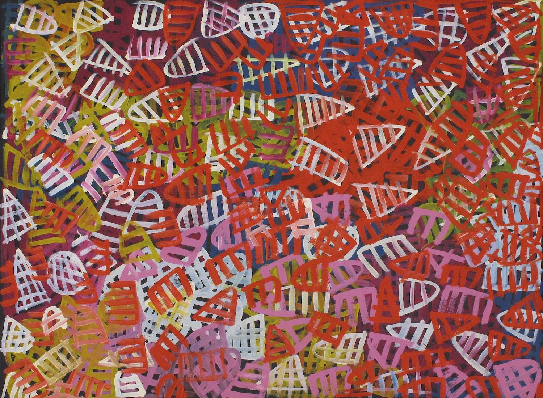 Emily Pwerle 'Awelye Atnwengerrp' Acrylic on Linen 122cm x 91cm (2008) #15014