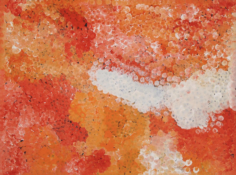 Polly Kngale 'Bush Plum' Acrylic on Linen 100cm x 76cm #15077