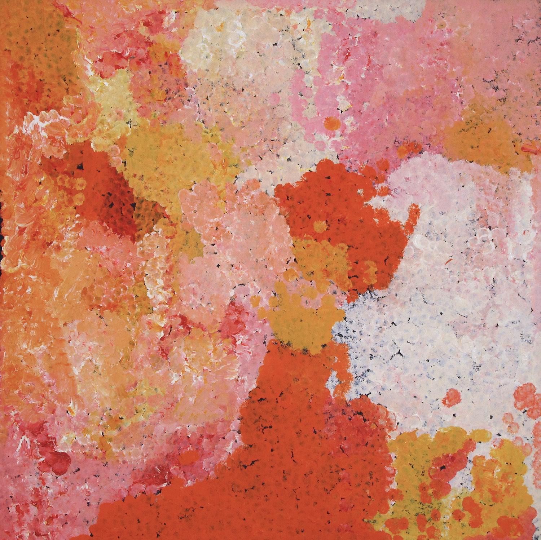 Polly Kngale 'Bush Plum' Acrylic on Linen 100cm x 100cm #15078