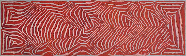 Ronnie Tjampitjinpa 'Rain' 198cm x 60cm Acrylic on Linen (2015) #15118