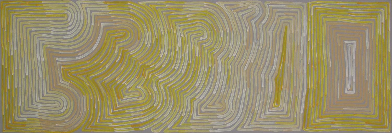 Ronnie Tjampitjinpa 'Rain' 180cm x 60cm Acrylic on Linen (2015) #15120