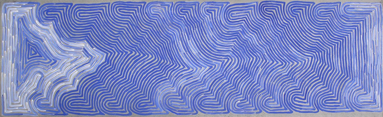 Ronnie Tjampitjinpa 'Rain' 198cm x 60cm Acrylic on Linen (2015)
