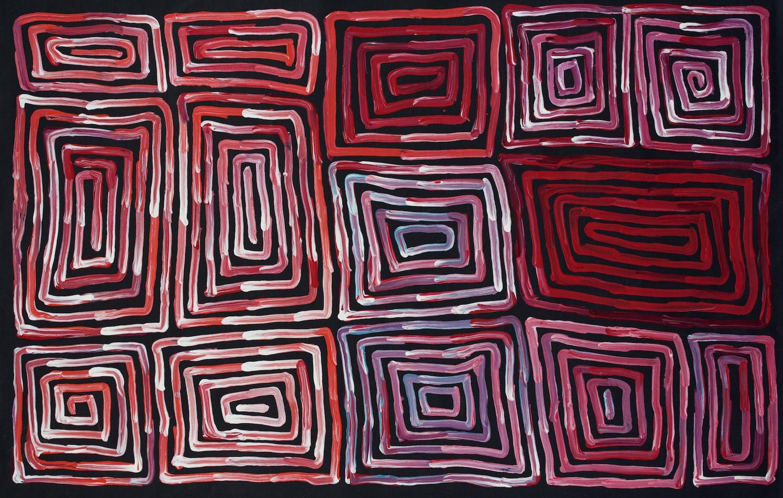 Ronnie Tjampitjinpa 'Tingari' 90cm x 60cm Acrylic on Linen (2015)