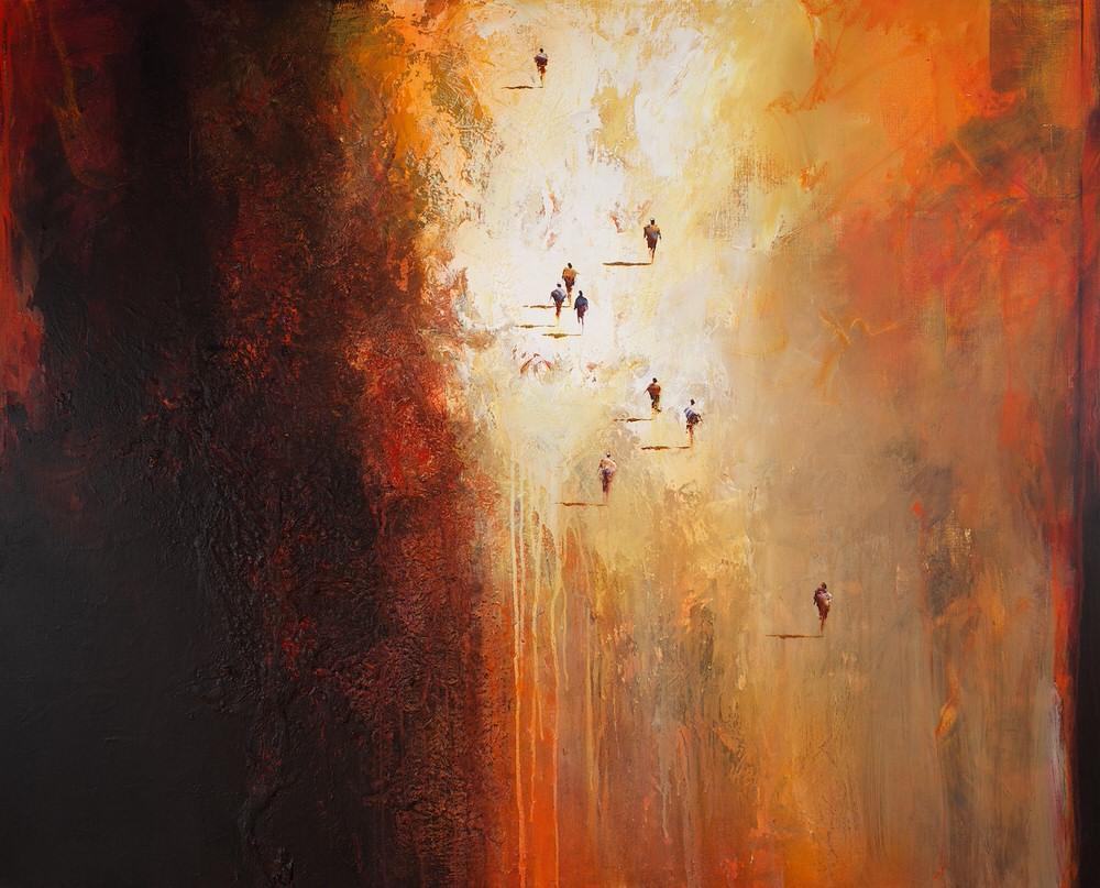 Mel Brigg 'Exodus' 122cm x 152cm
