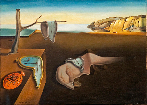 "Salvador Dali's famous piece ""The Persistence of Memory"""