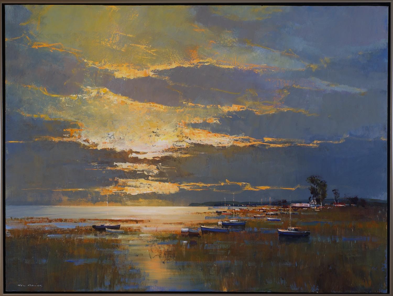 #14032 Mel Brigg 'Last Light' 95cm x 125cm