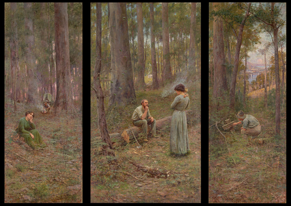 """""""The Pioneer"""" by Frederick McCubbin"""