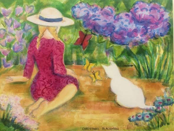 "Christabel Blackman ""The Secret Garden"" 120x90 Acrylic on canvas 16253"