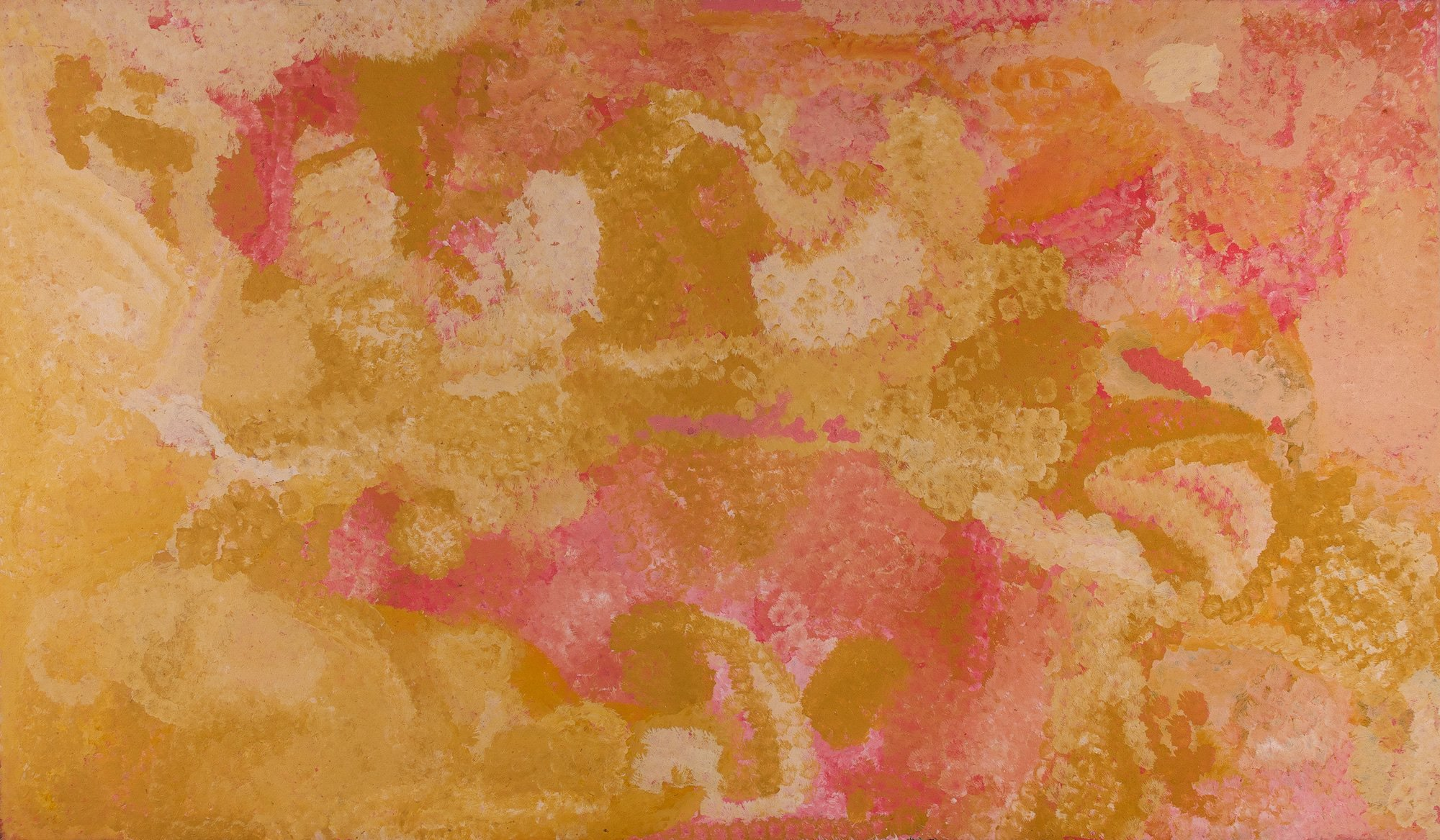 Emily Kngwarreye  'Winter Exposition Yam Dreaming' 215x122