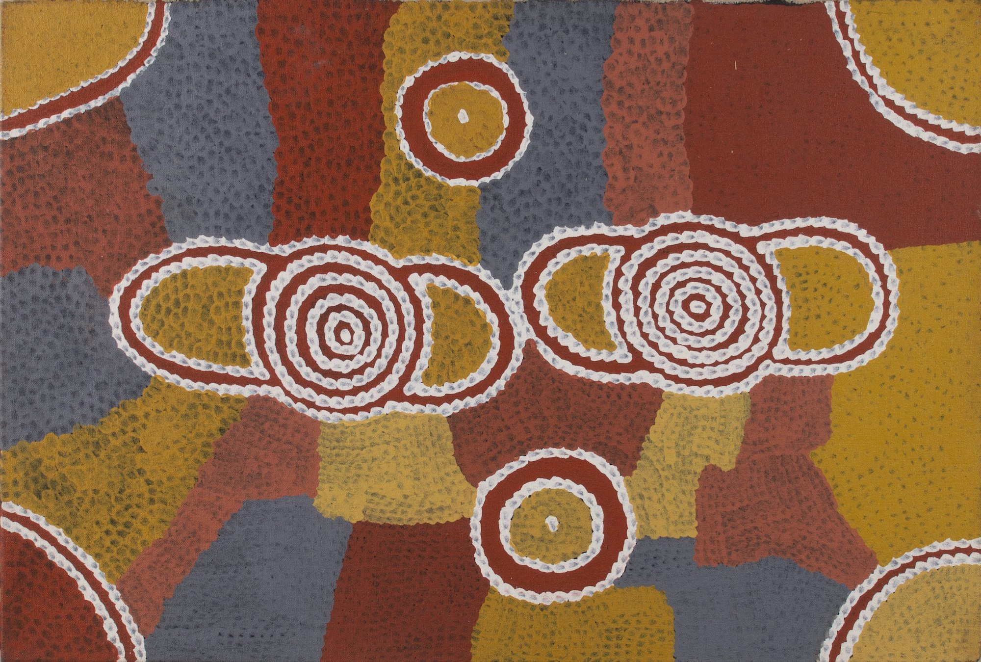 Billy Stockman Japaltjarri 'Men ceremony' (1992) 62x91