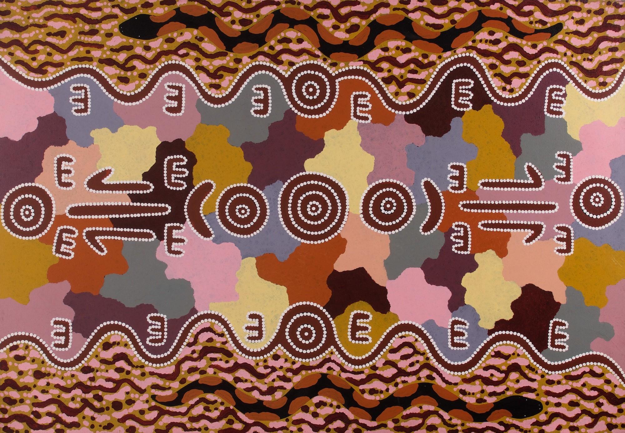Michael Nelson Jagammara ' Four Dreaming' (1996) 148x105