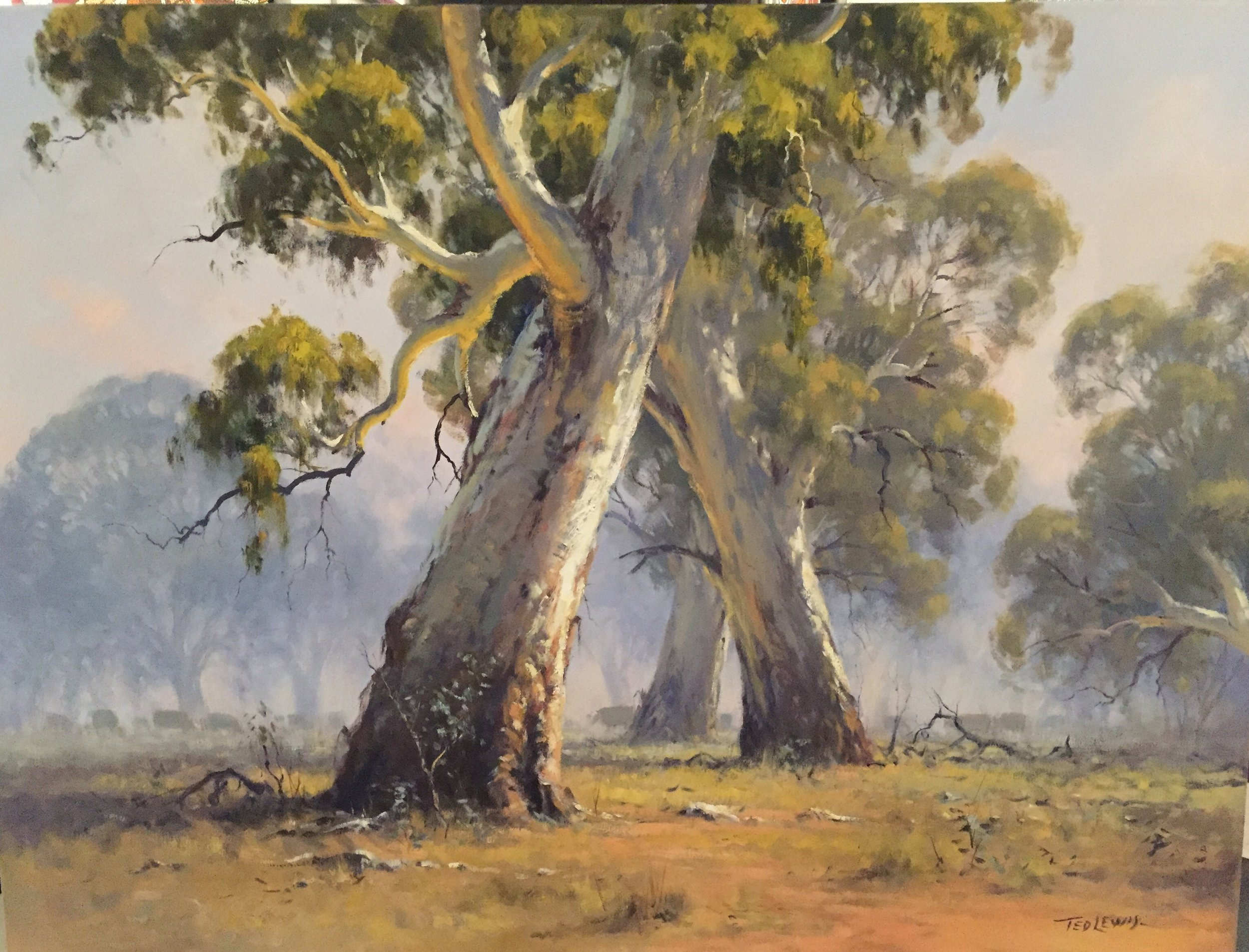 Ted Lewis - A grey morning 76 x 102 cm #16482