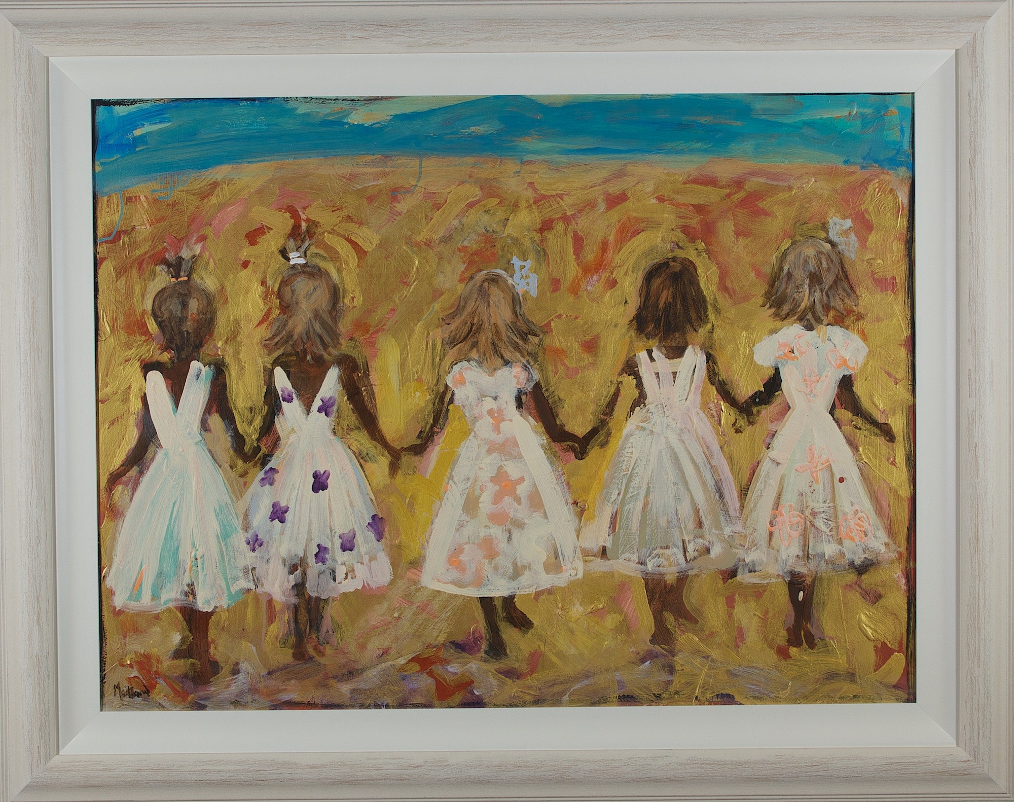 John Maitland - Untitled (Five Girls) 118 x 146 cm #16740