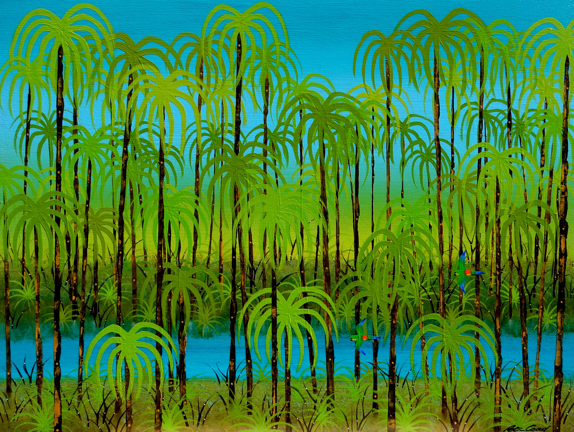 Rainforest - Byron Bay Series 90x120cm