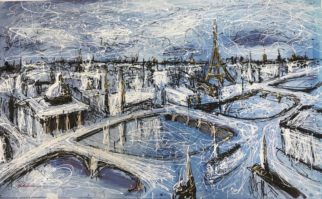 Mark Hanham 'Blue Bridges' #17680