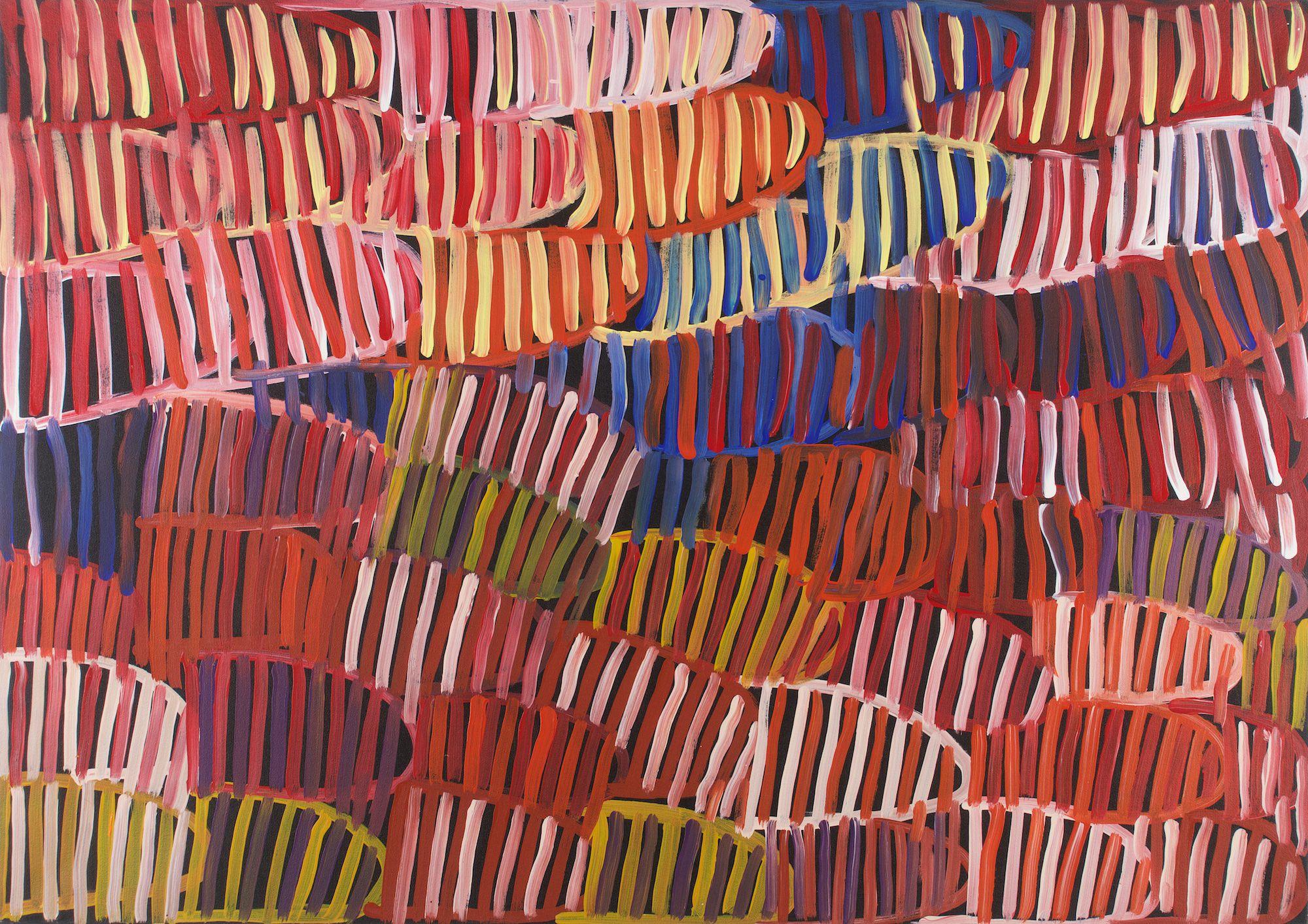 Minnie Pwerle Body Paint 2004 acrylic on canvas 127 x 90 cm #16552