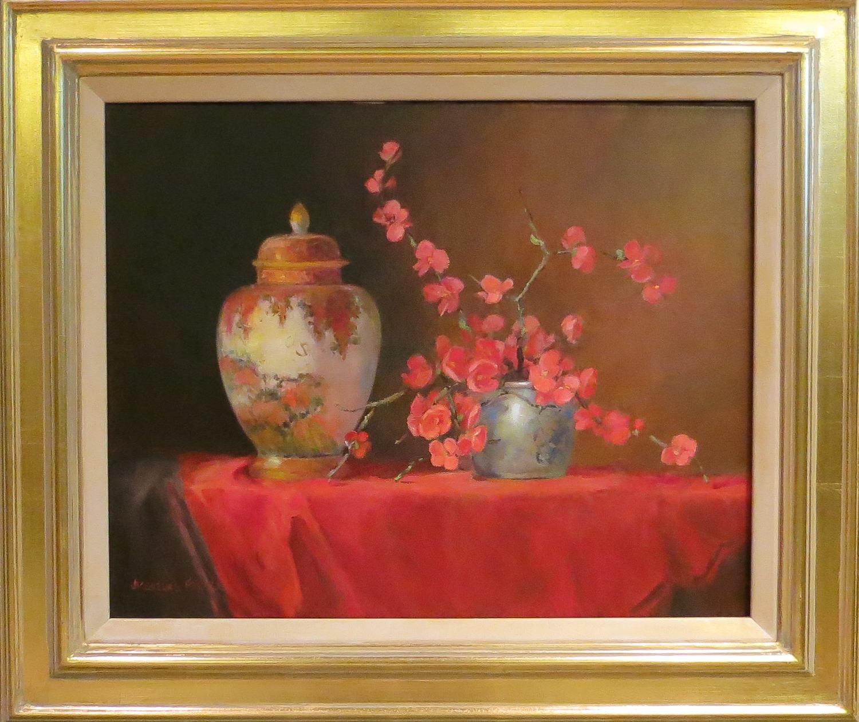 Jacqueline FowlerLidded Satsuma Vase, 2018 Oil on Canvas58 x 68 cm.jpg