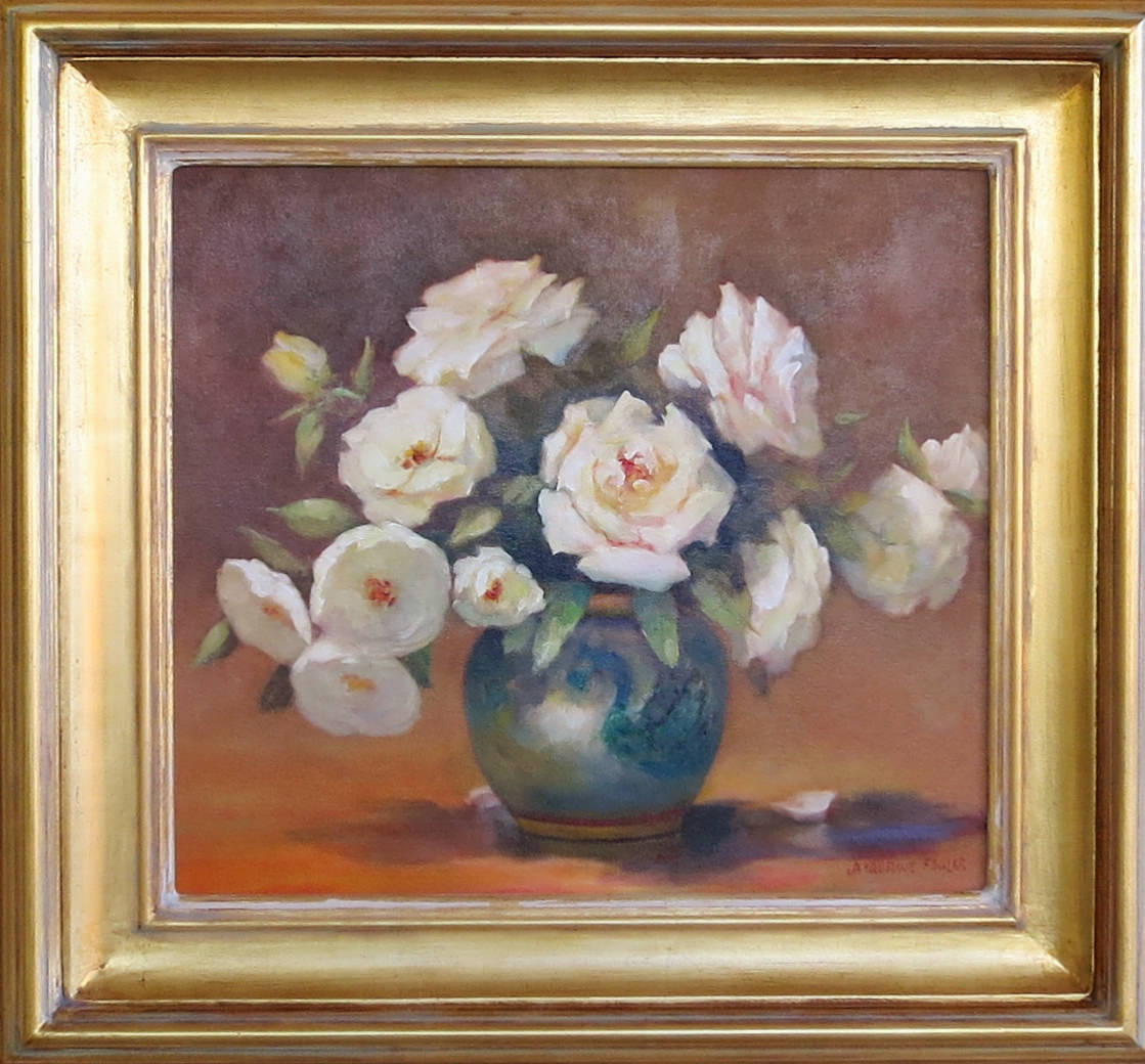 Jacqueline FowlerWhite Roses, 2018 Oil on Canvas61 x 65 cm.jpg