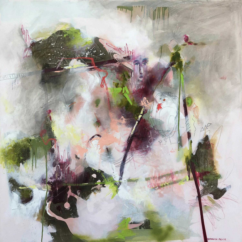 Shannyn Alexene PriceSmall Talk, 2019 Mixed Media on Canvas 122 x 122 cm.jpg