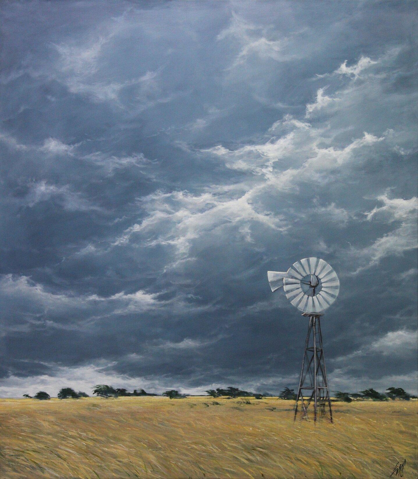 Paul EvansSummer Storm, 2019 Acrylic on Belgian Linen122 x 107 cm.jpg