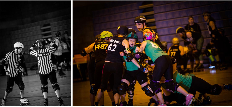 Auld reekie roller girls verus Cambridge roller billies Edinburgh roller derby ARRG Neil WYkes photograpy Edinburgh