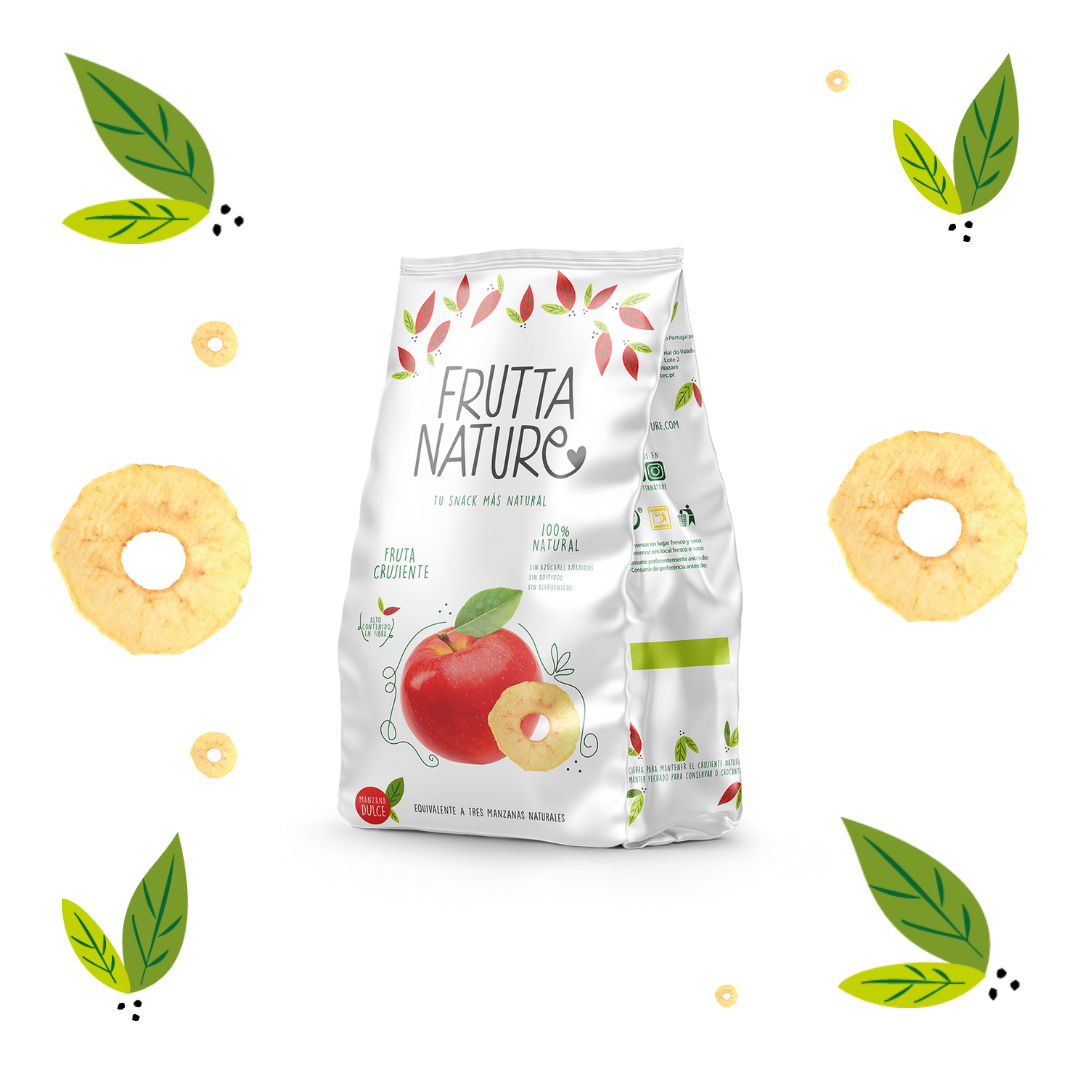 Frutta Nature. Manzana dulce deshidratada. Crispy dried apple