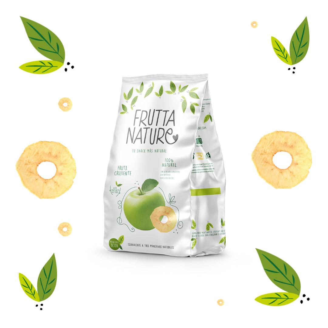Frutta Nature. Manzana ácida deshidratada. Crispy dried apple
