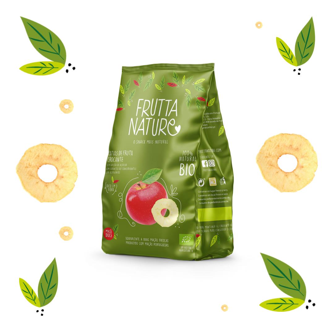 Frutta Nature. Manzana dulce BIO deshidratada. Crispy BIO dried apple