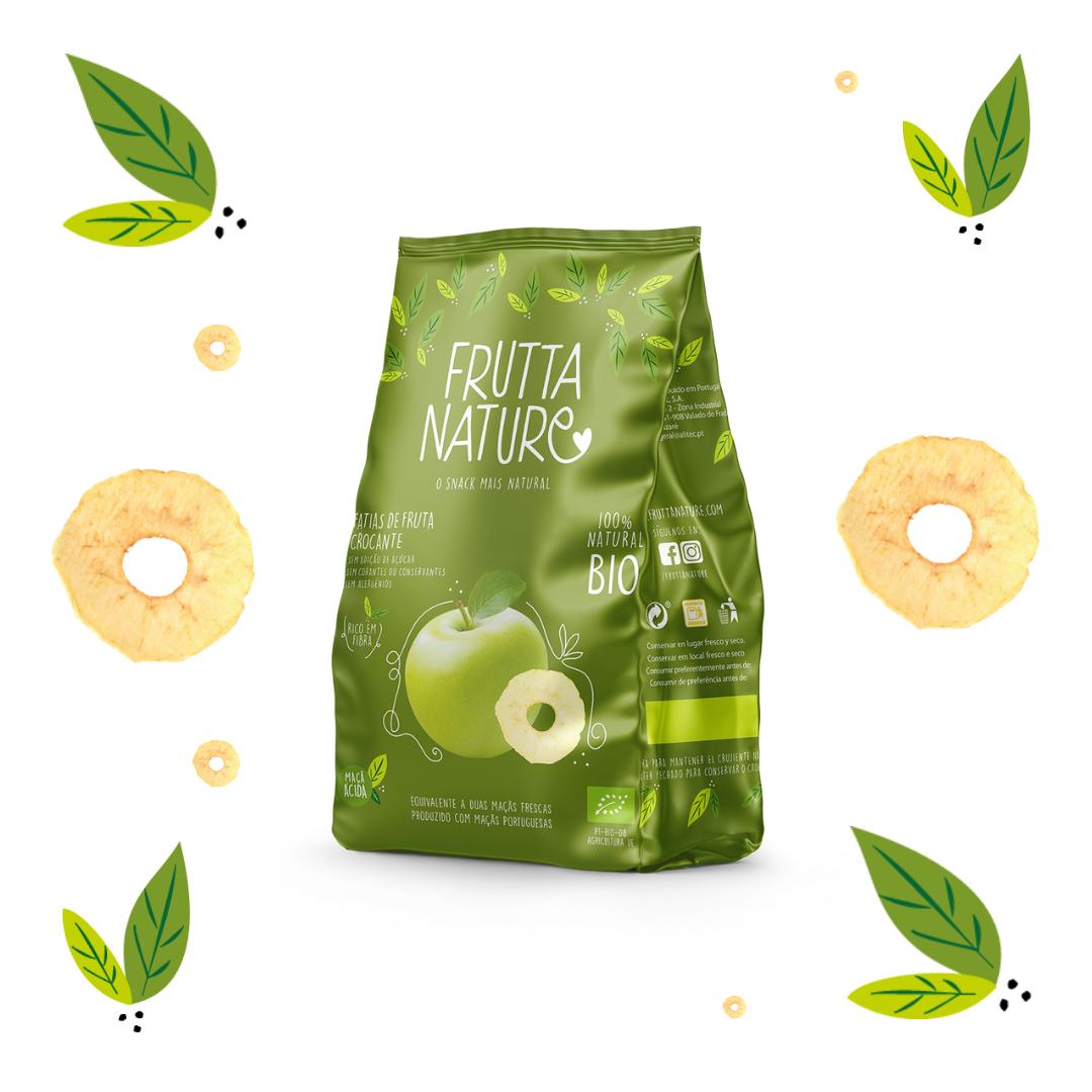 Frutta Nature. Manzana ácida BIO deshidratada. Crispy BIO dried apple