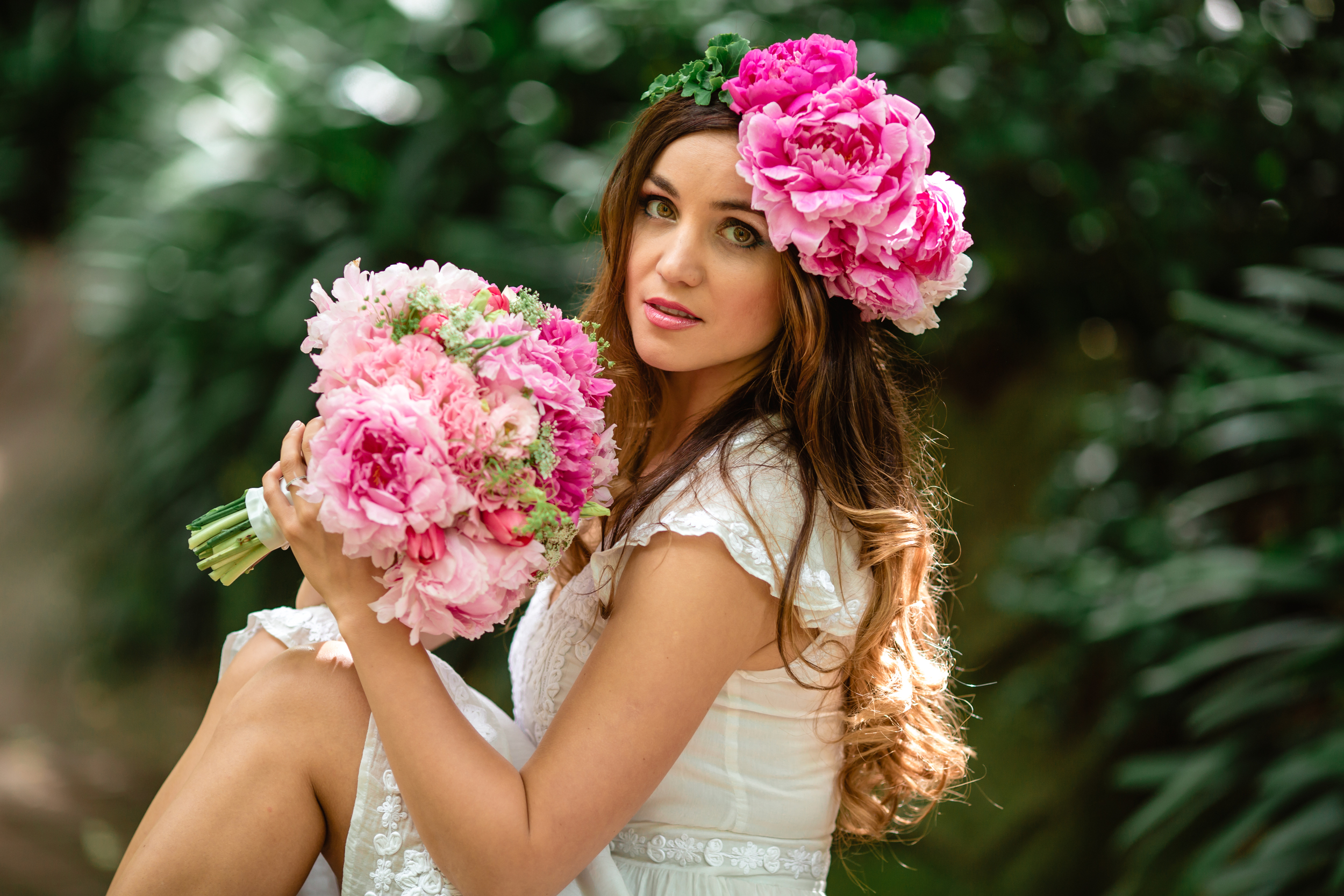 Garden Wedding - Floral Crown and bridal bouquet 10.jpg