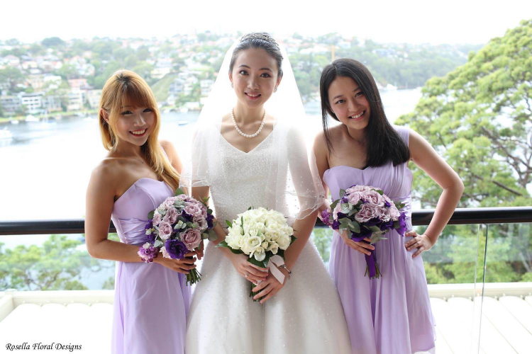 Jinglin and bridemaids