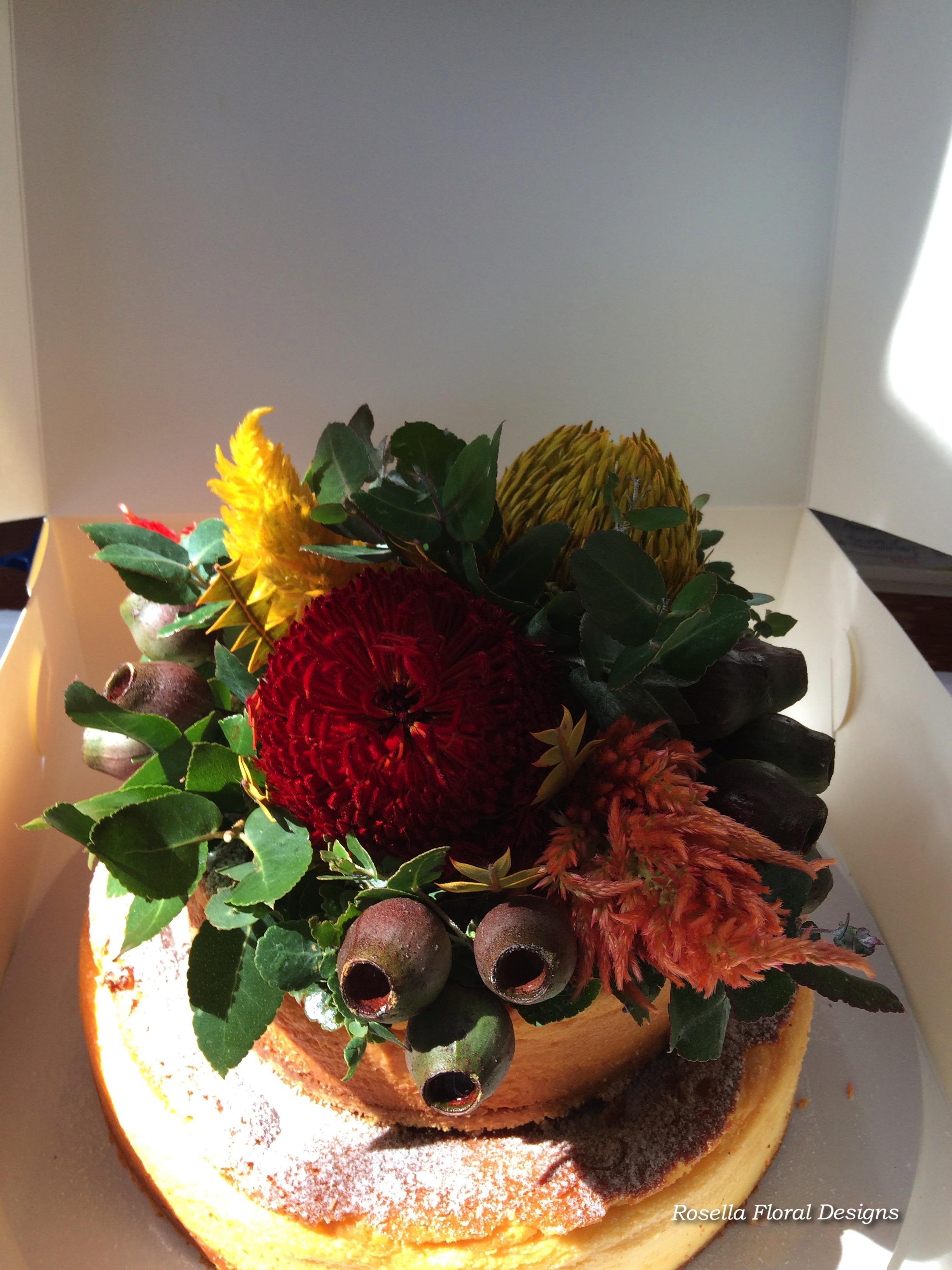 rustic cake flowers australian natives.jpg