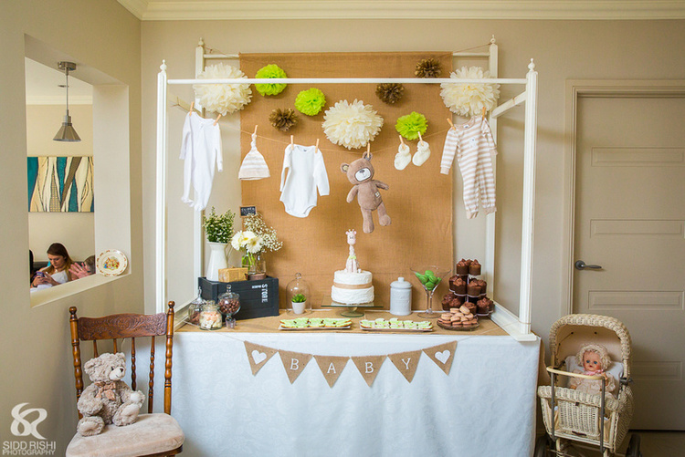 Rustic Styled Baby Shower