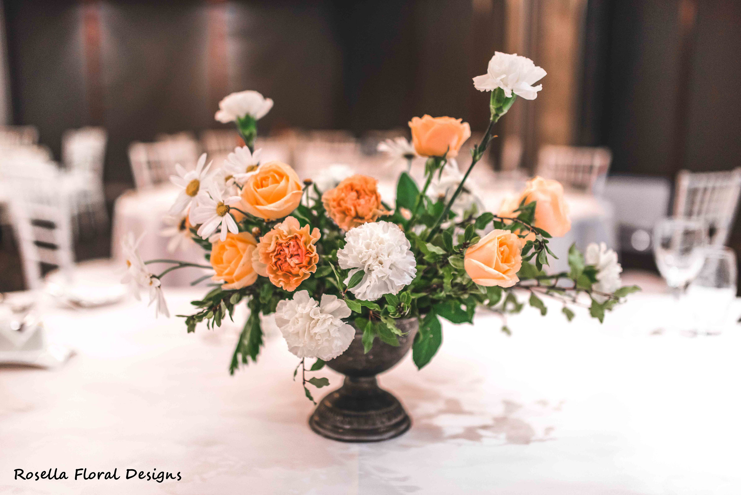Assymetrical table centerpiece for weddings.JPG
