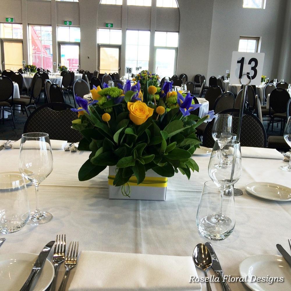 Wedding table centerpiece yellow blue.jpg