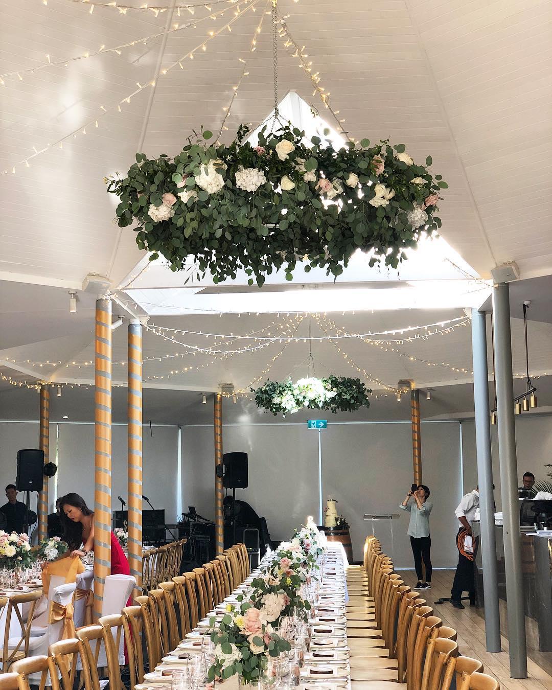 Floral, foliage hanging chandelier.jpg
