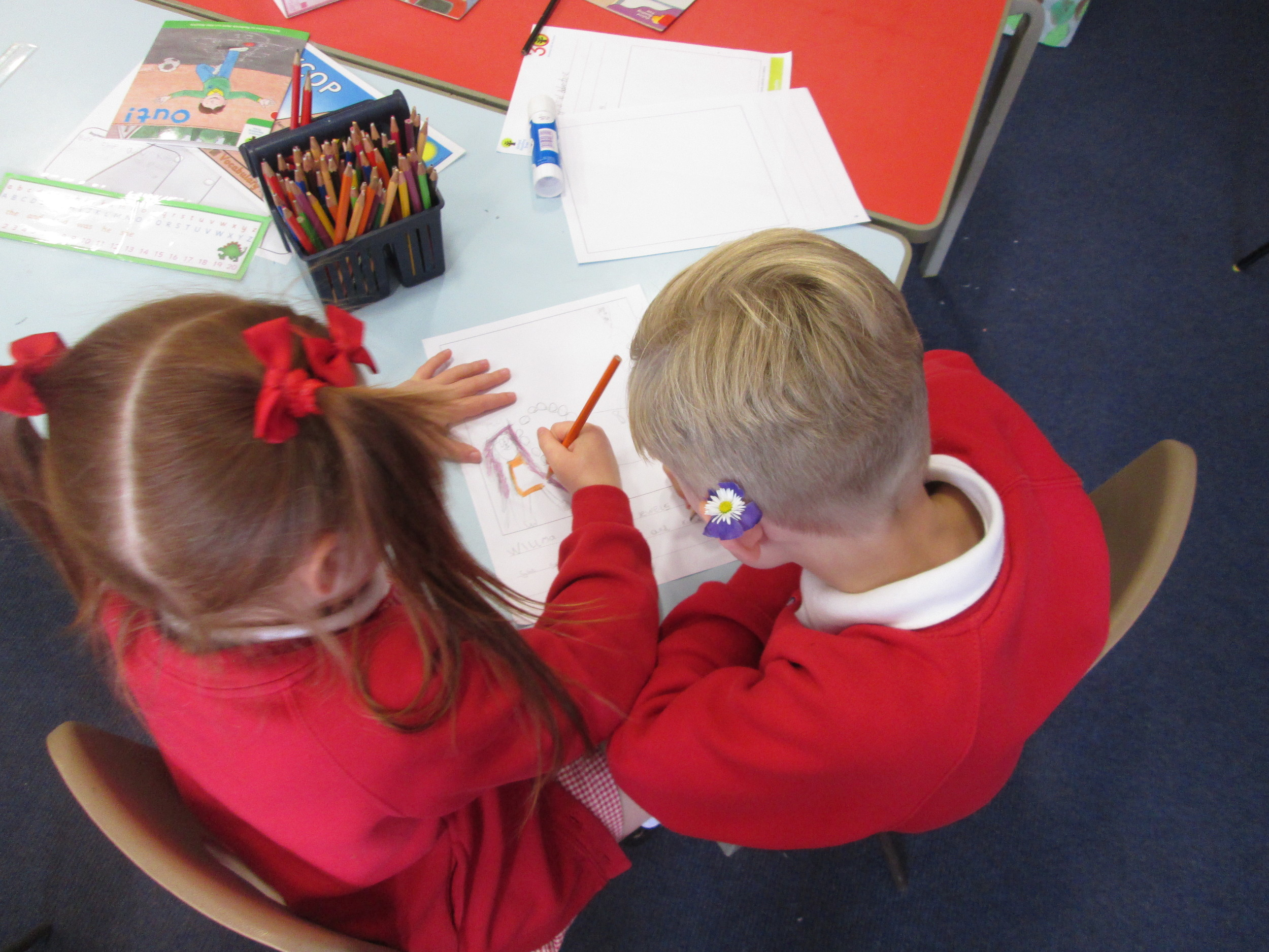 We have a shared write with Reception this week.  We are writing stories for a national competition.