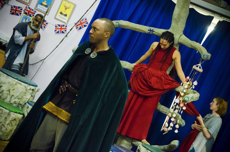 l-r, Caleb Frederick (Antonio) and Sarah Kameela Impey (Ariel)